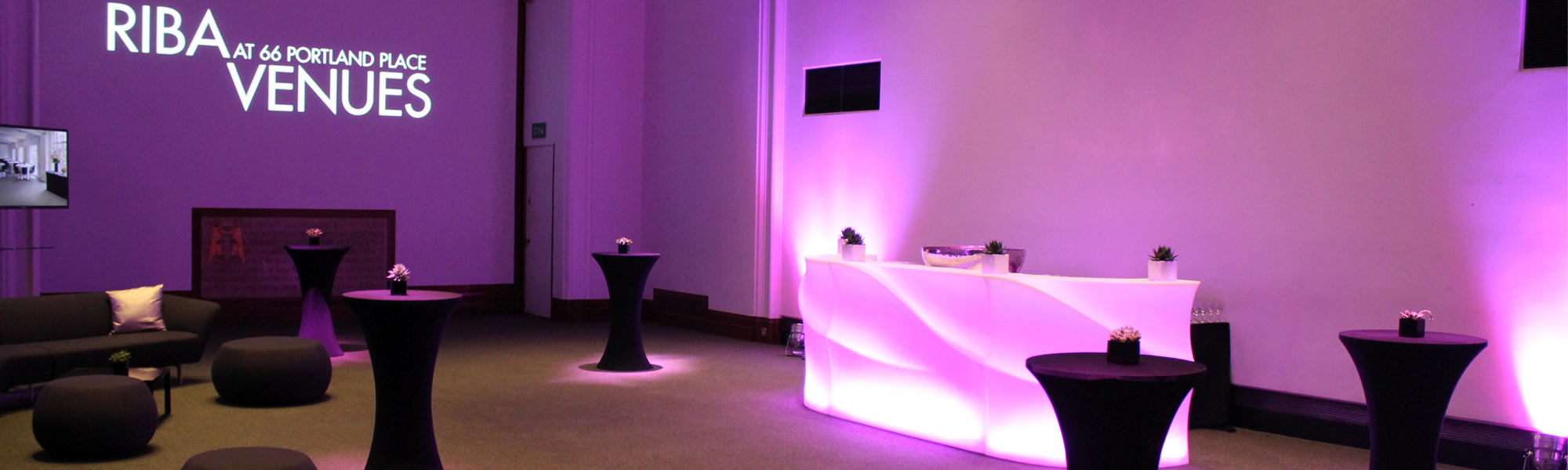 Mobile Bar at indoor event